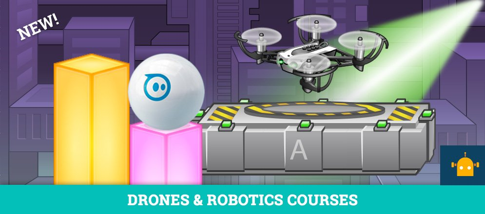 New Programming Courses Released for Drones and Robots!