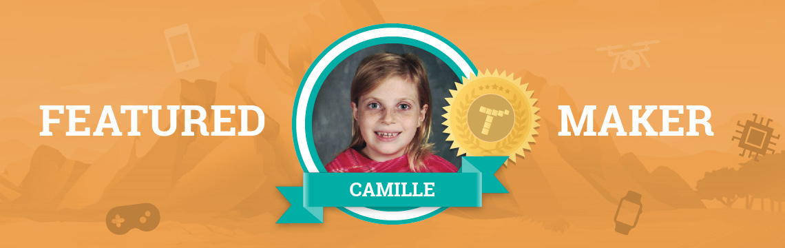 Coding Allows Camille to Combine Math and Art!