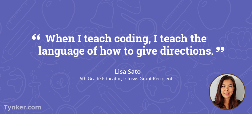 Lisa Sato Encourages Her Students to See the Importance of Coding