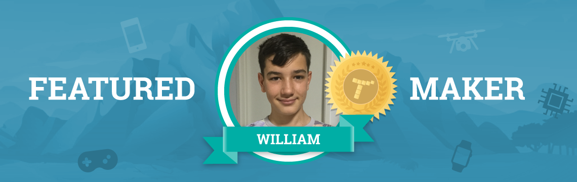 William's First Project Was Featured!