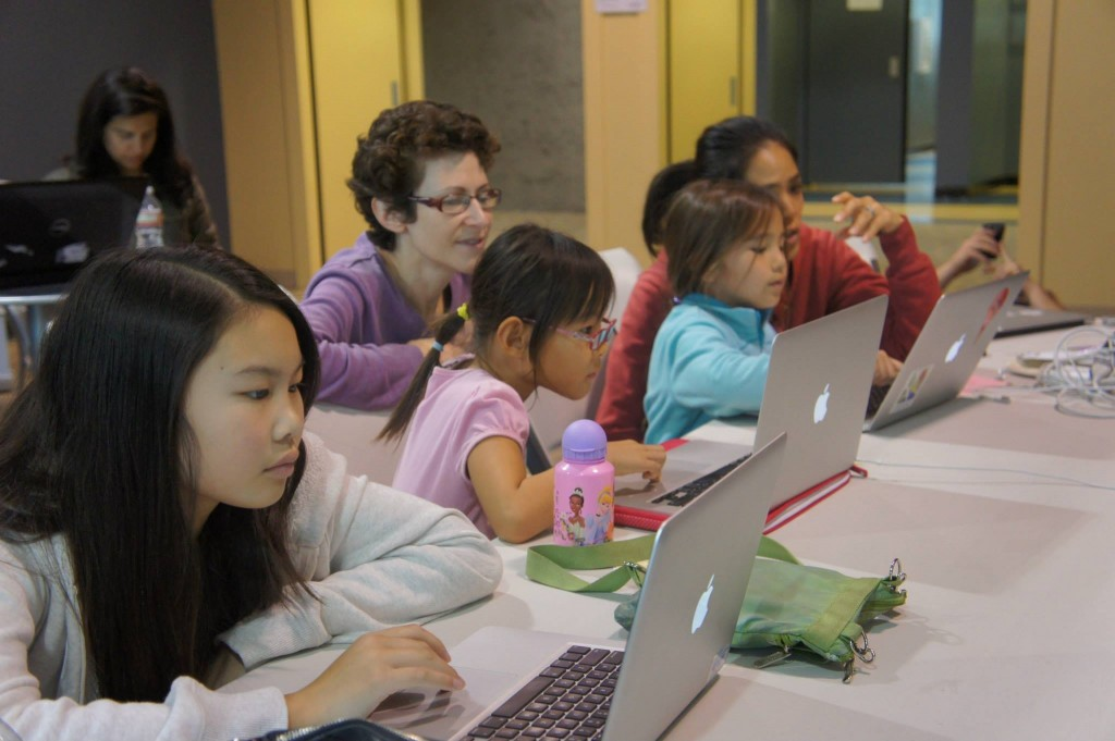Moms Helping Girls Code