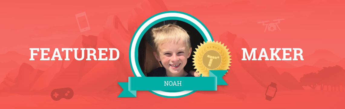 Noah Creates Amazing Games with Code!