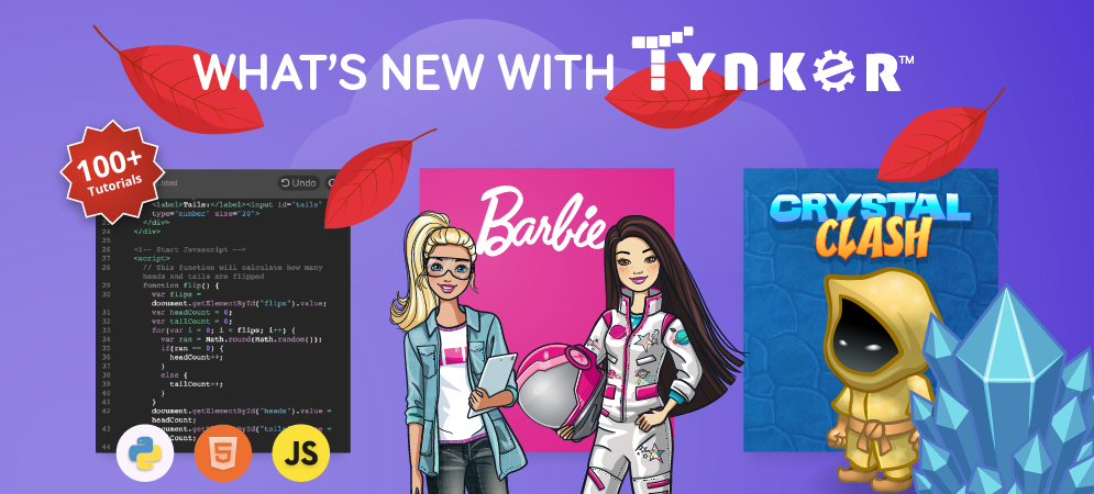 Check Out What's New With Tynker This Fall!