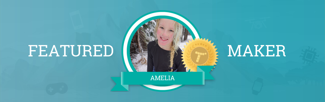 Amelia Loves to Play and Create Games!