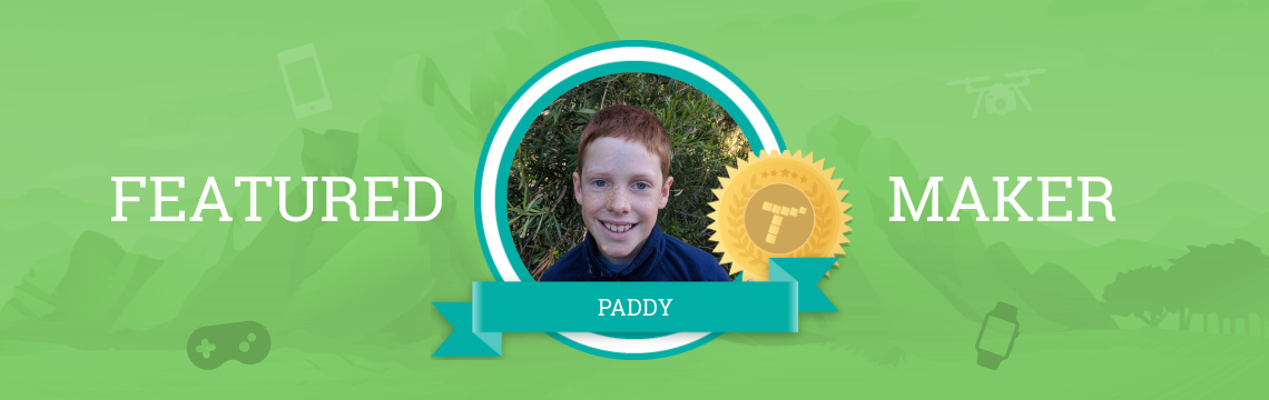 Paddy Loves to Create with Code!