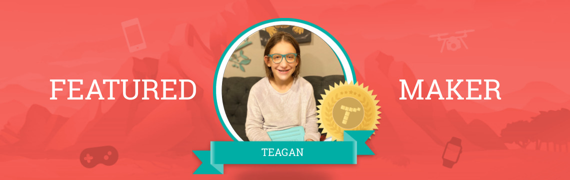 Featured Maker Teagan:  Exploring the Paws-ibilities of Coding