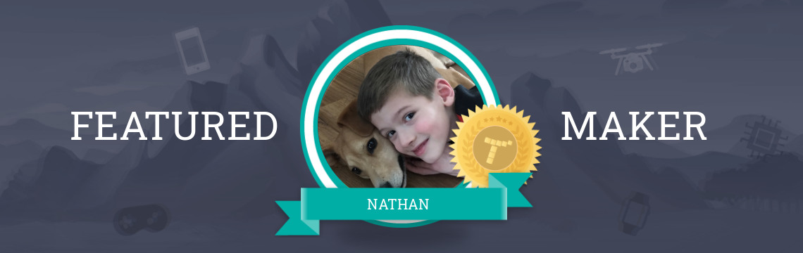 Featured Maker Nathan Authors His Code