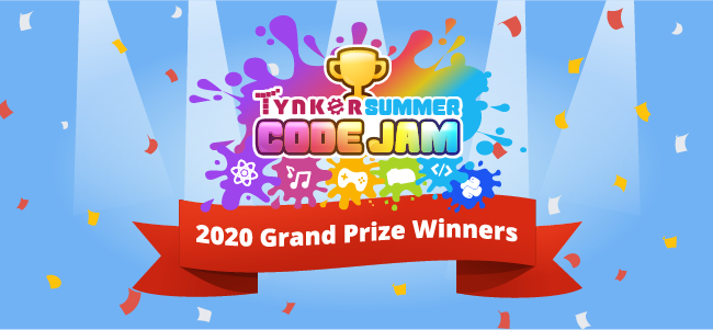Congratulations to our Tynker Summer Code Jam Grand Prize Winners!