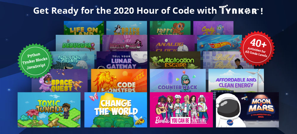 Hour of Code 2020: Tynker's Ready to Make it Great