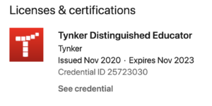 Tynker Distinguished Educator Badge