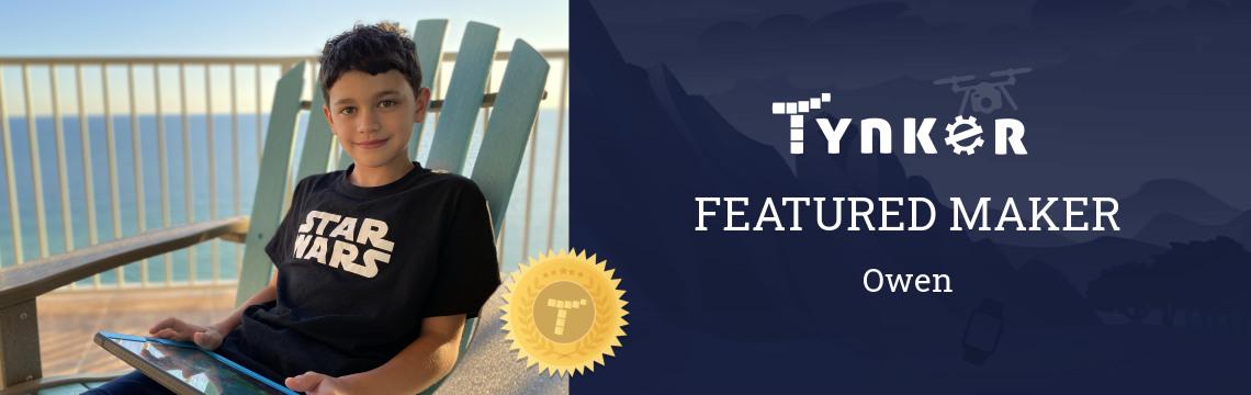 Featured Maker: Owen Programs His Future!