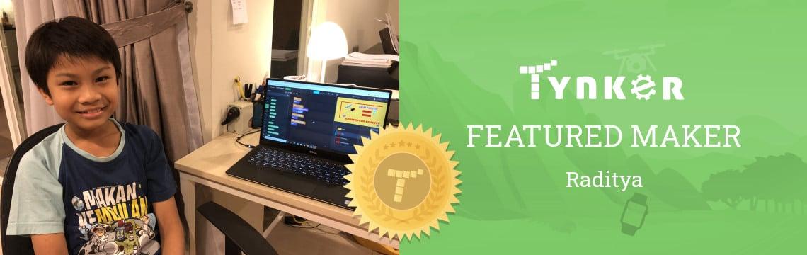 Featured Maker: Raditya Thinks Coding is Really Fun!