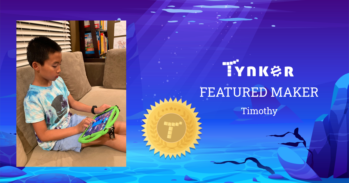 Featured Maker: Timothy Loves to Draw and Write!