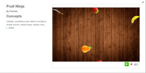 Tynker Fruit Ninja Game