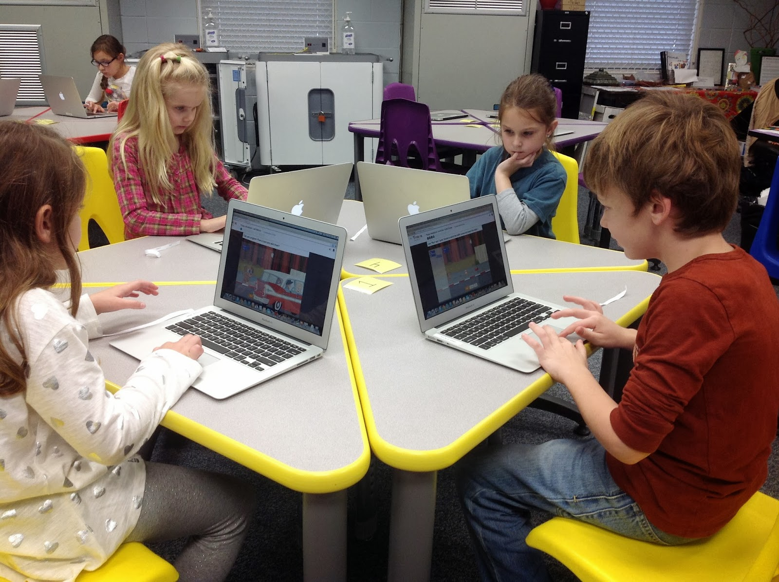 Lee-Scott Academy Elementary Technology Lab: Second Graders Develop Coding Skills