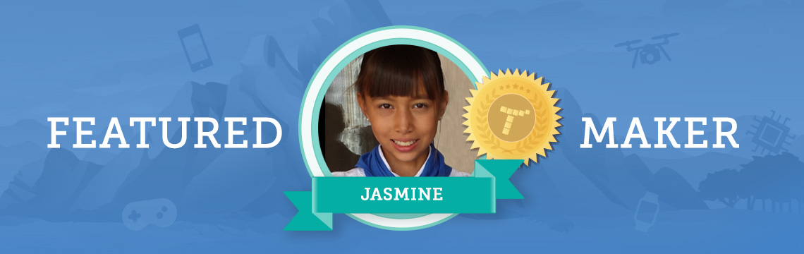 Jasmine Codes to Make Her Own Video Games