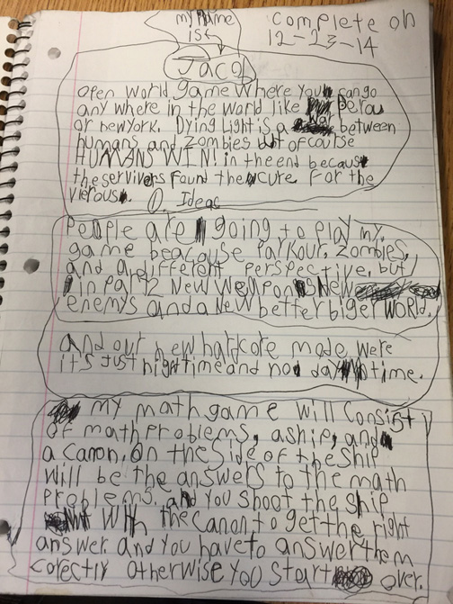 LH Student Writing