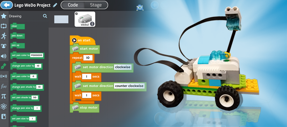 Programming Lego WeDo 2.0 with Tynker