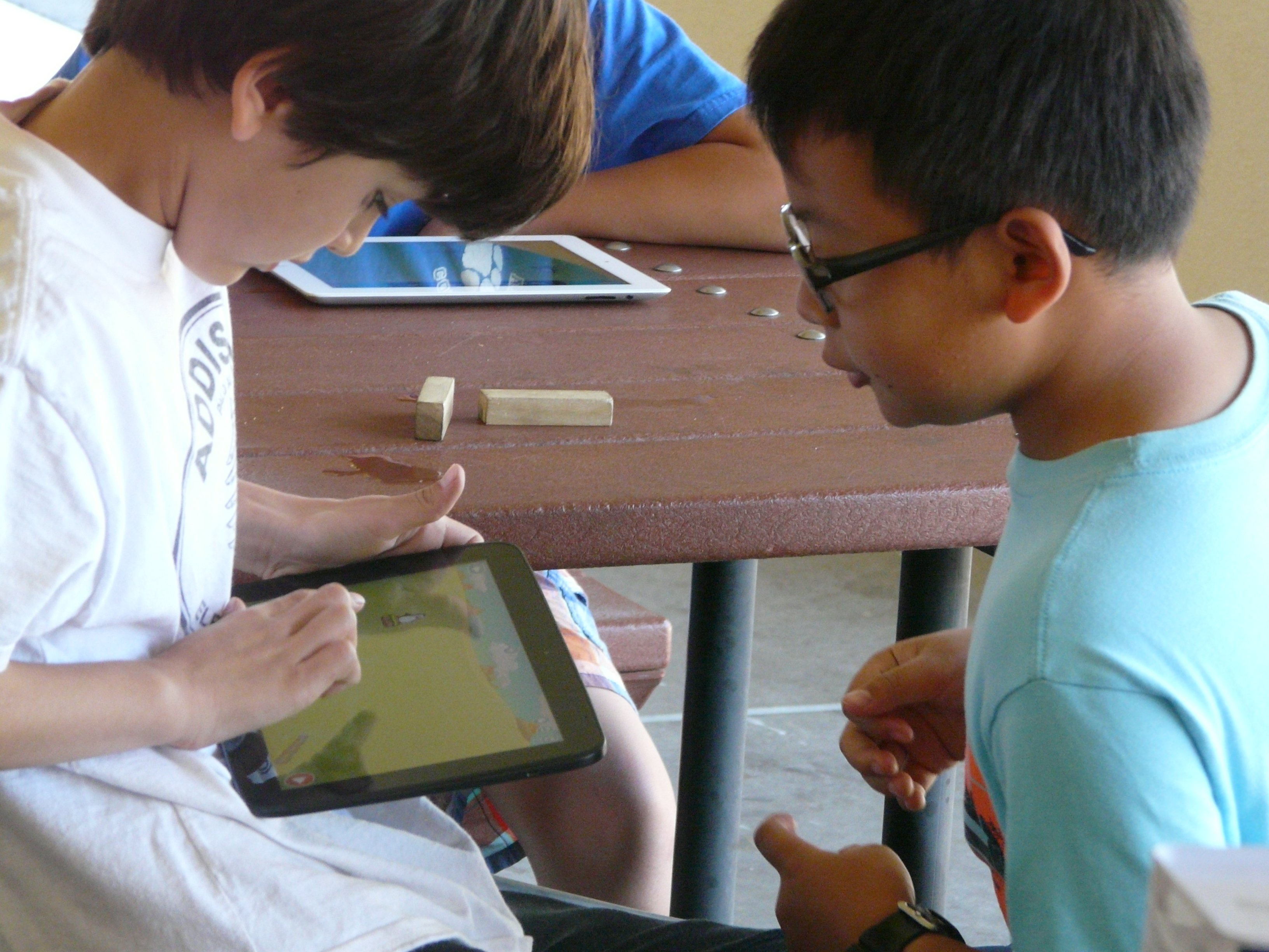 Boys Coding with Tynker on iPad