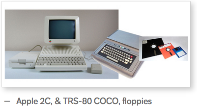 Old Apple 2C & TRS-80 COCO