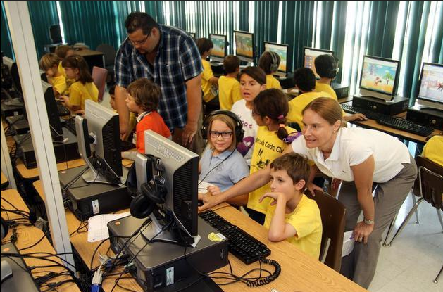 Miami Herald: Coral Gables school teaches elementary school students how to code computers