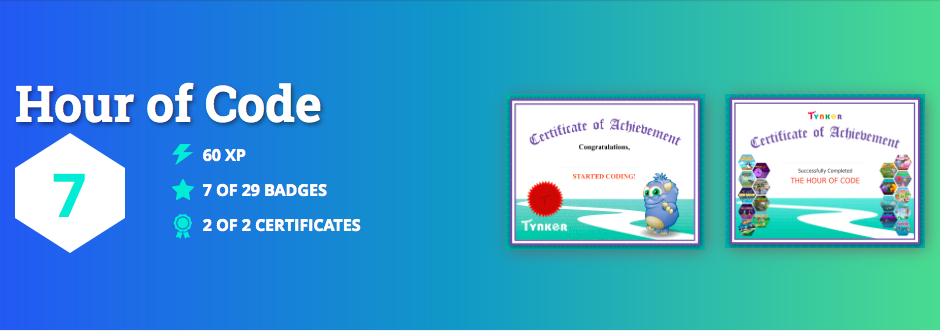 NEW! Get a Personalized Hour of Code Certificate