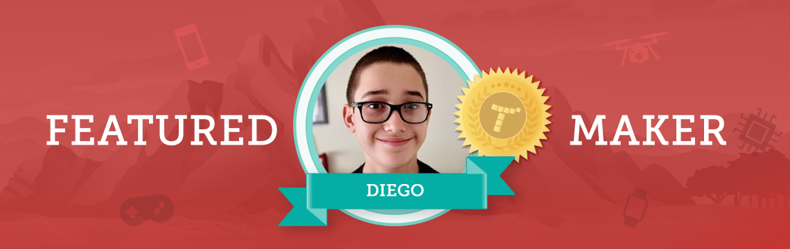 Current and Future Artist Diego Enjoys the Tynker Community!