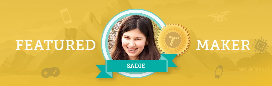 Future actress Sadie draws coding inspiration from her hobbies!