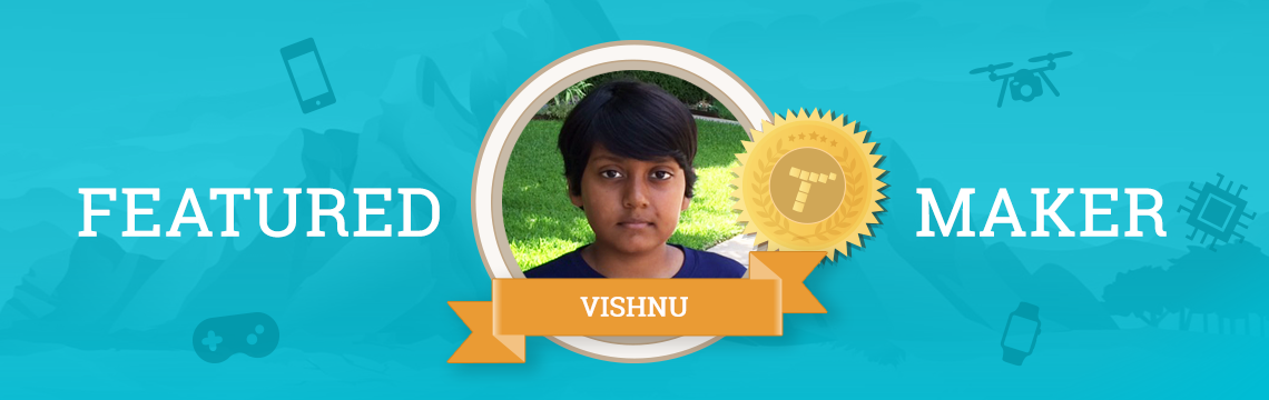 Vishnu Brings His Imagination to Life with Coding!