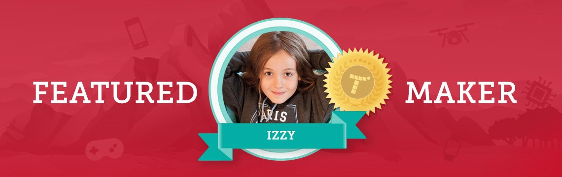 Izzy Uses Coding to Make Interactive School Projects