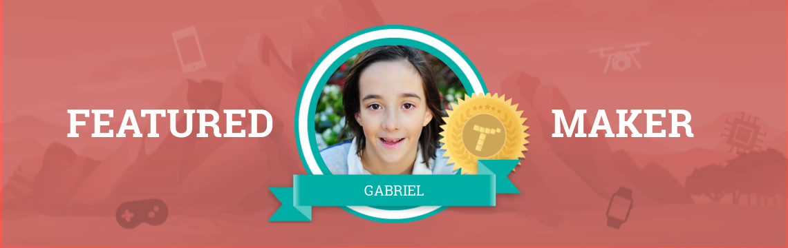 Gabriel's Been Coding with Tynker for Four Years!