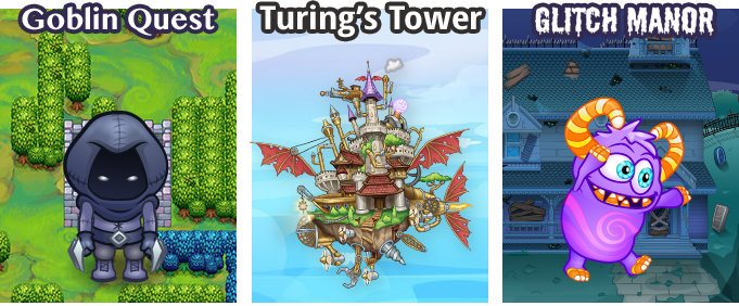 Goblin Quest, Turing's Tower, Glitch Manor