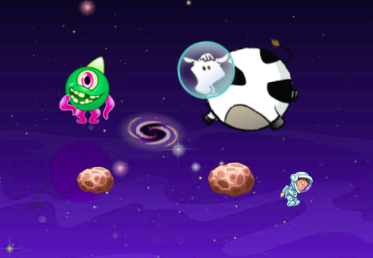 Space Cow – A Physics Puzzle Game