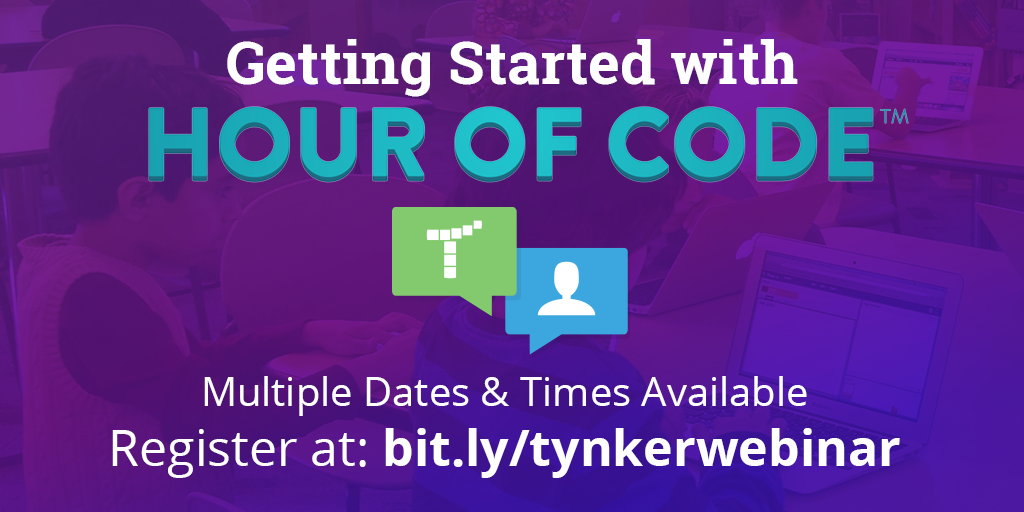 Register for the Tynker Hour of Code Webinar!