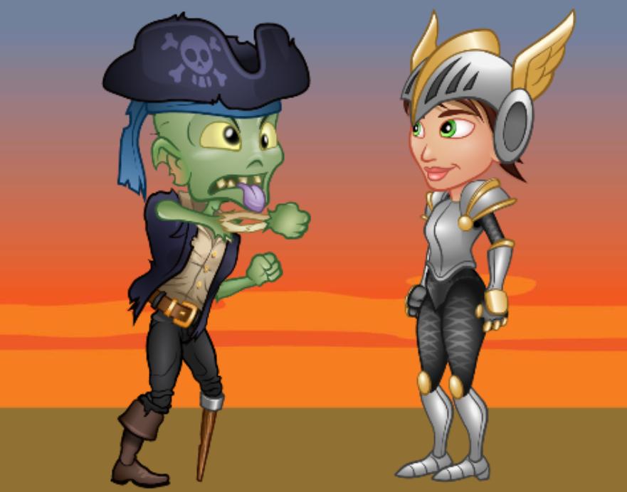 Zombie Pirate vs. Warrior Princess? Tynker's Next Level Character Animator