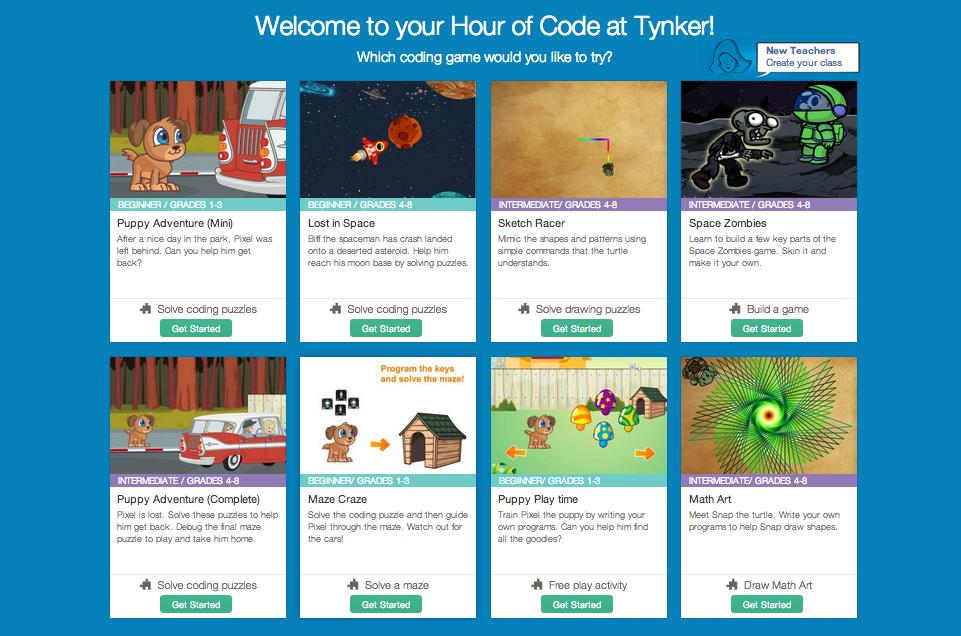 Tynker Hour of Code Games