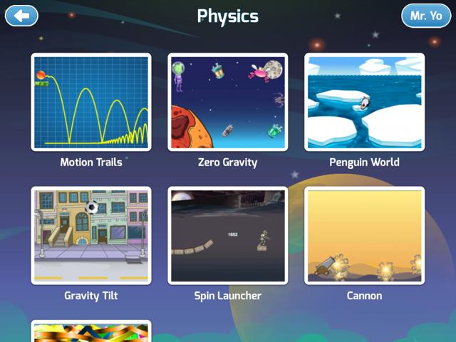 Tynker Mobile Physics