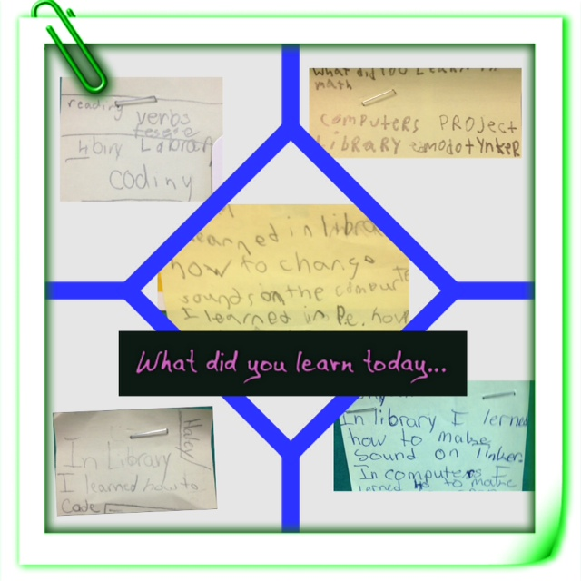 Tynker Post its- What did you learn today?