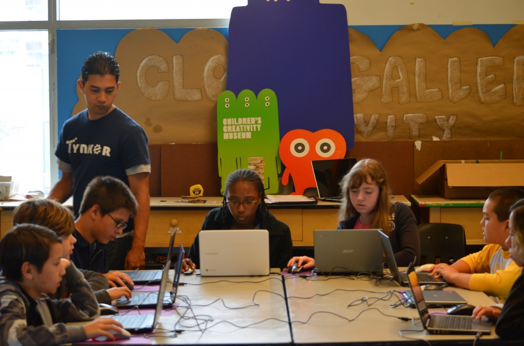 Teaching kids to code at camp