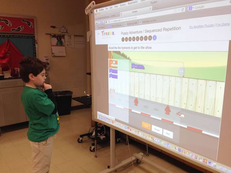 Saint Michael School: 2013 December Hour of Code Success